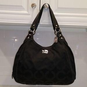 Coach Maggie Madison Op Art Black Shoulder Bag